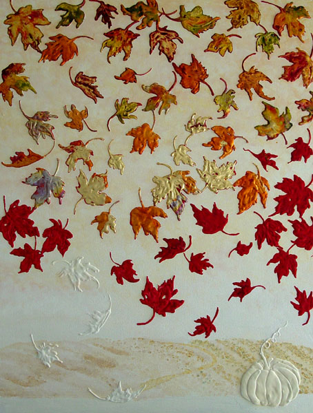 Fall Farm Wallpaper Contemporary Paintings For Sale Autumn Leaves Framed