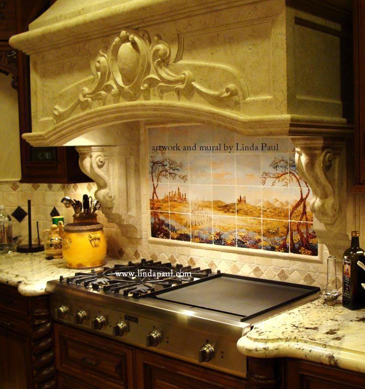 italian custom kitchen featuring fields tuscany tile mural clear white laminated kitchen backsplash ideas design
