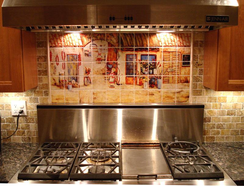 tuscan decor italian tile murals tuscan kitchen backsplashes italian kitchen backsplash design idea mediterranean kitchen
