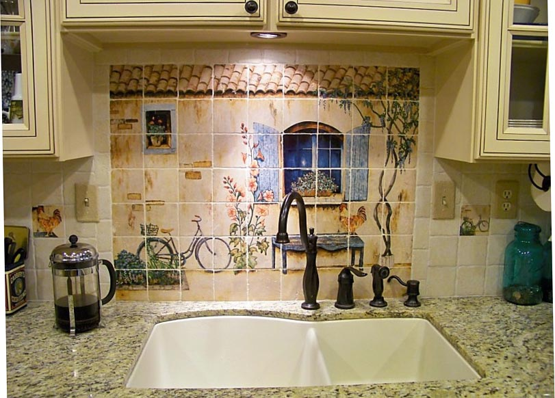 rooster country french accents kitchen backsplash ideas country kitchen backsplash ideas pictures