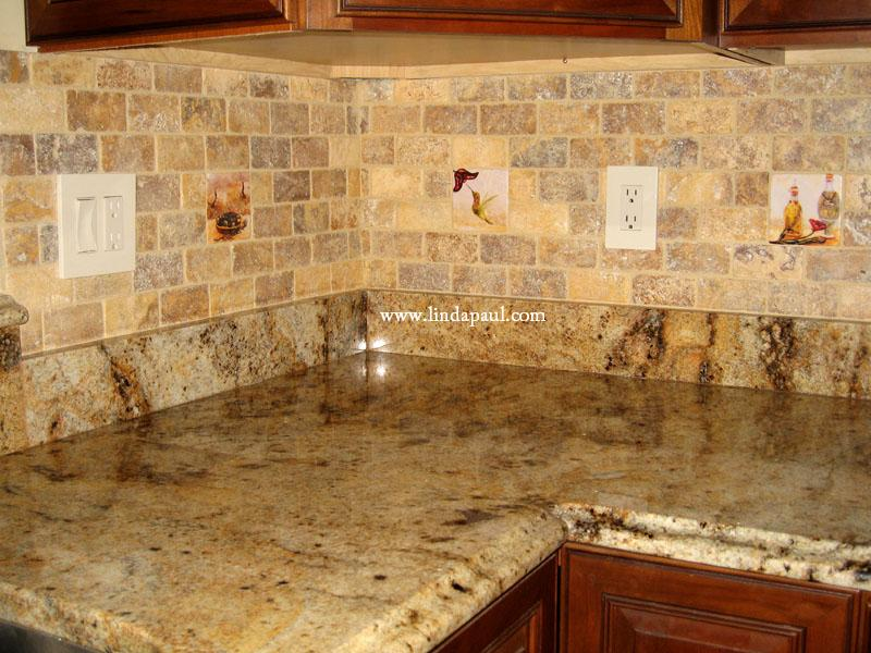 accent tiles inserted yellow travertine mosaic tiles ceramic tile mural kitchen tiles