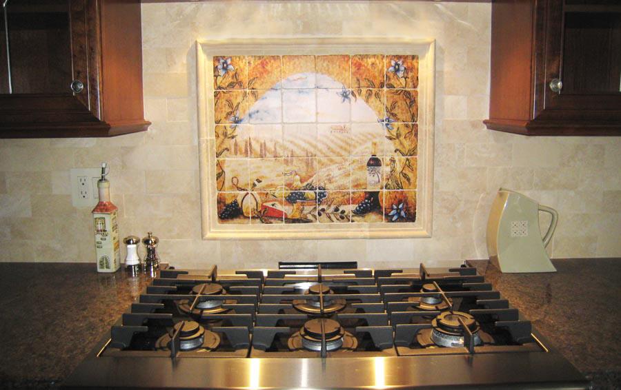 kitchen tile backsplashes tuscany artist linda paul italian kitchen backsplash design idea mediterranean kitchen