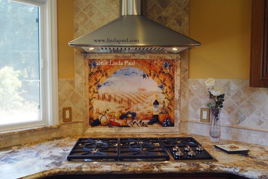 italian tile murals tuscany backsplash tiles ceramic tile mural kitchen tiles