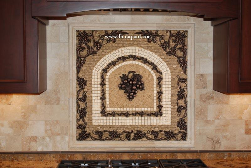 mosaics grapes mosaic tile medallion kitchen backsplash mural mosaics mosaic tile backsplash install mosaic tile backsplash