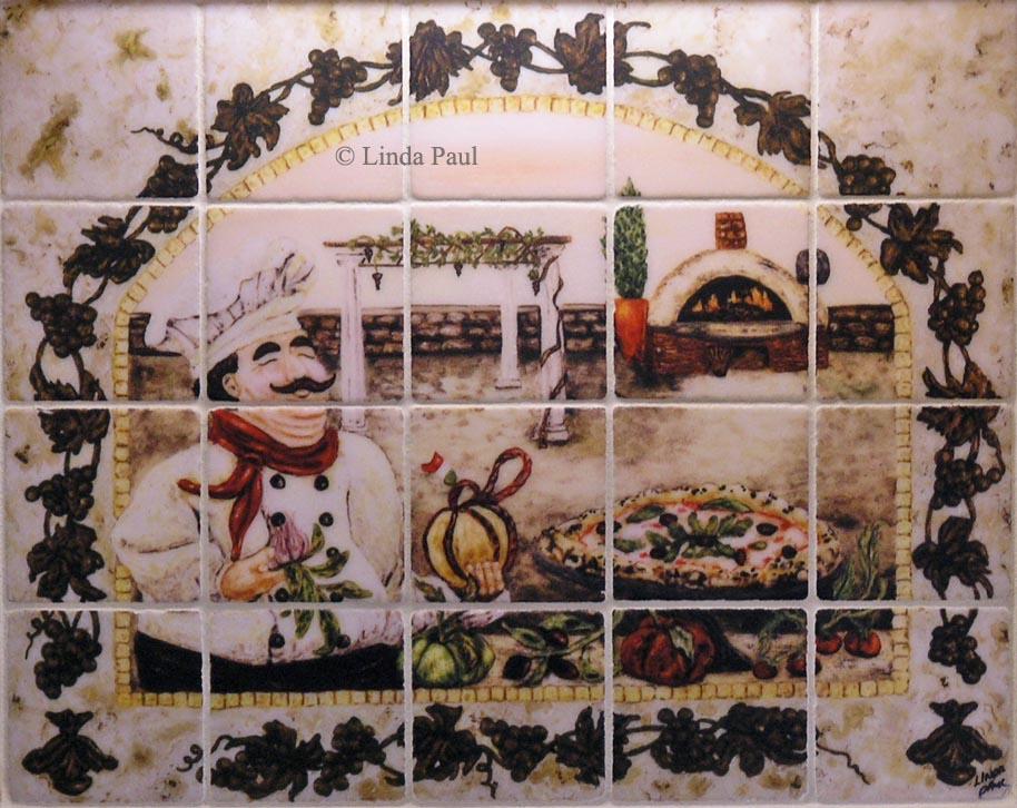italian pizza kitchen tile backsplash mural artist linda paul italian kitchen backsplash design idea mediterranean kitchen