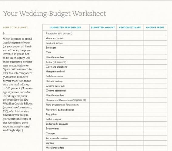 quick wedding checklist