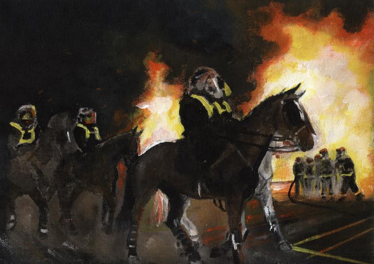 Animal Wallpaper Britains Riots Linda Slater S Artwork