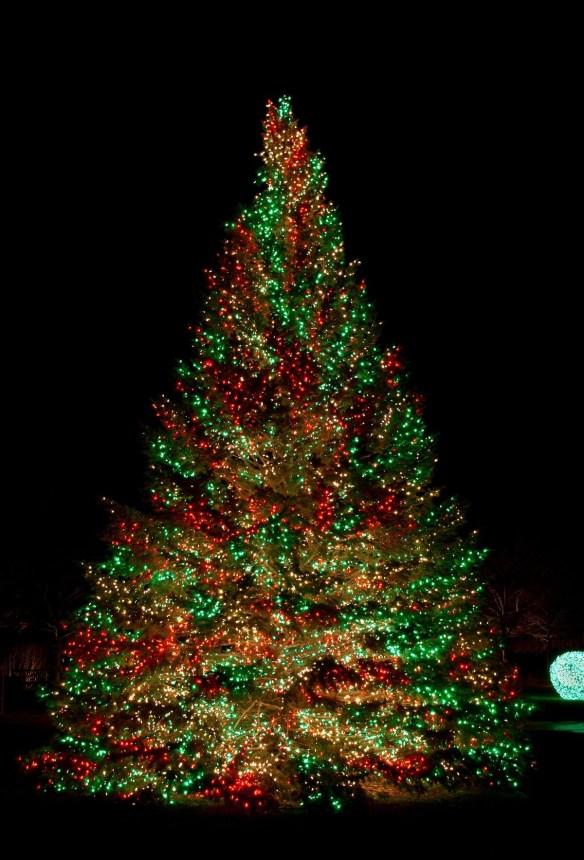 Fargerikt juletre