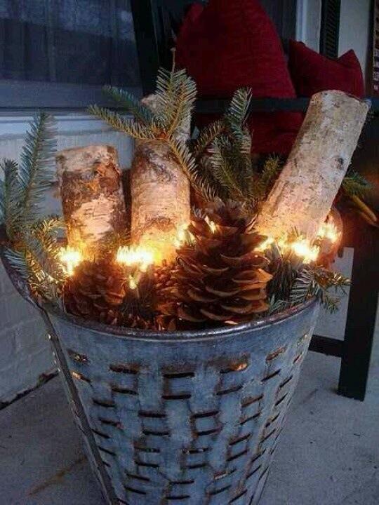 Julepynt utendørs