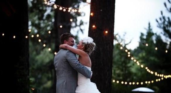 lyslenke bryllup brudepar