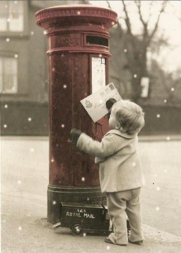 julepost liten gutt