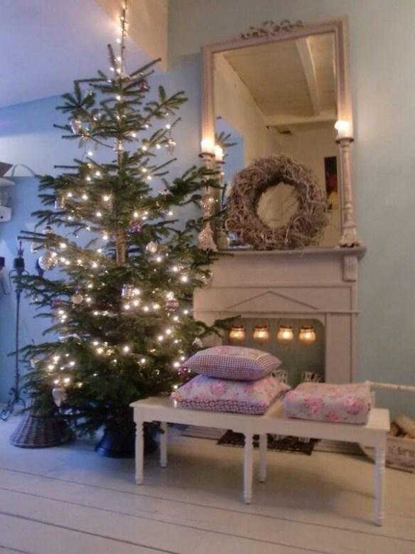 juletre med lys
