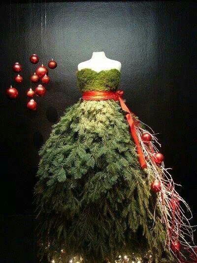 juletre kjole dekor