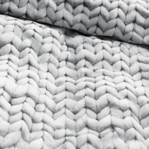 SNurk sengetøy Twirre Grey Closeup