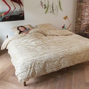 Snurk sengetøy twirre beige dobbel
