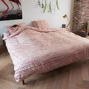 snurk sengetøy twirre rosa dobbelt