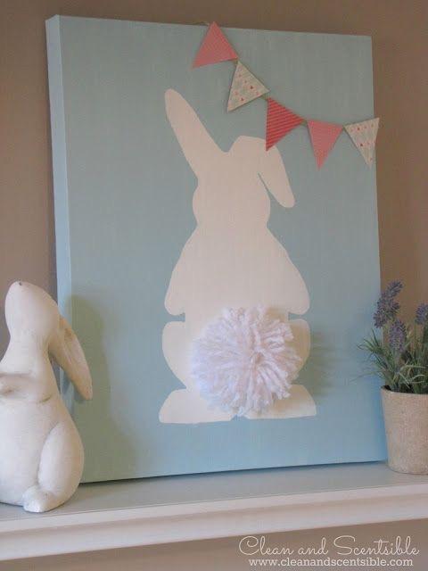 Påskebilde kanin lyseblå bakgrunn