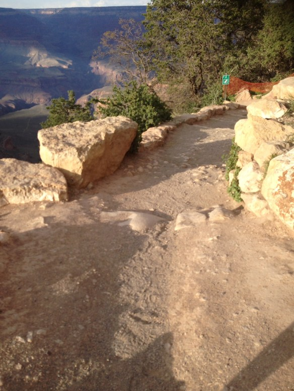 Grand Canyon vei ned i passet