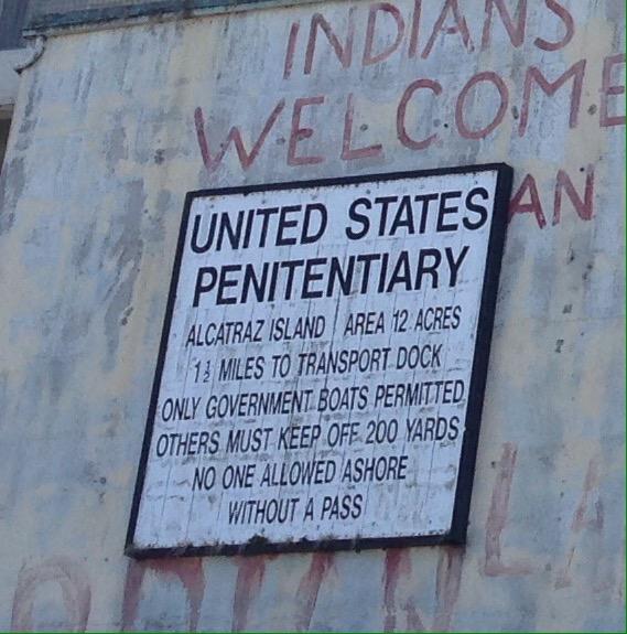 Skilt Alcatraz