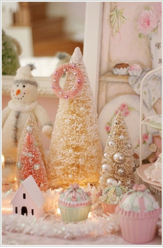 Julepynt i pastell