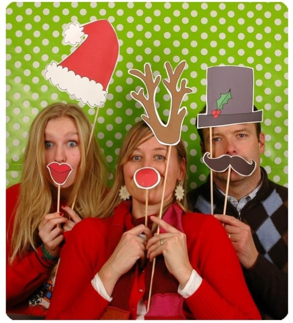 Photo Booth Christmas illustrasjonsbilde