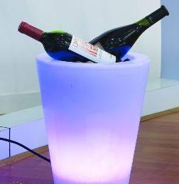 LED lyskrukke som vinkjøler