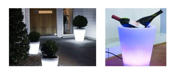 Samlebilde LED krukker Konstsmide