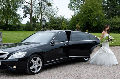 mercedes limo bryllup