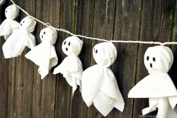 Cottonlights omgjort til halloween lyslenke
