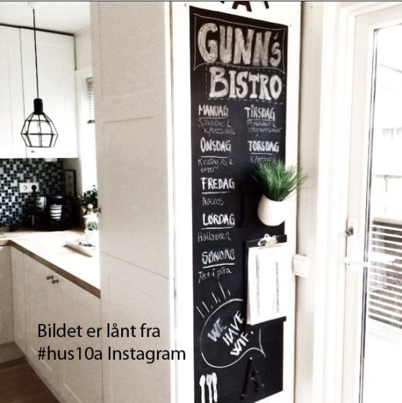 Tavle Wallstickers husketavle hus10a Instagram