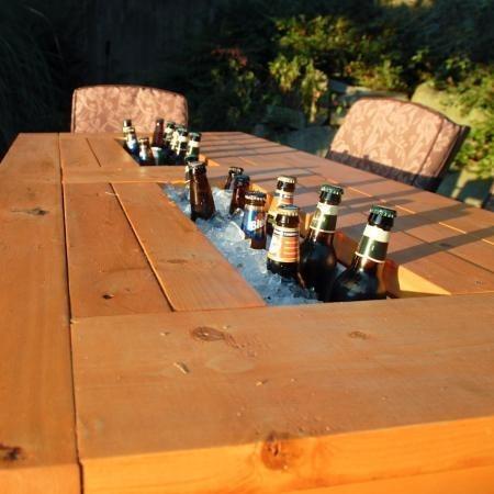 hagebord med kjøle muligheter