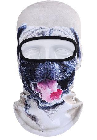 Skimaske Mops hund