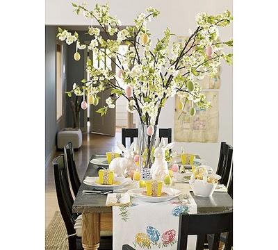 påske borddekking