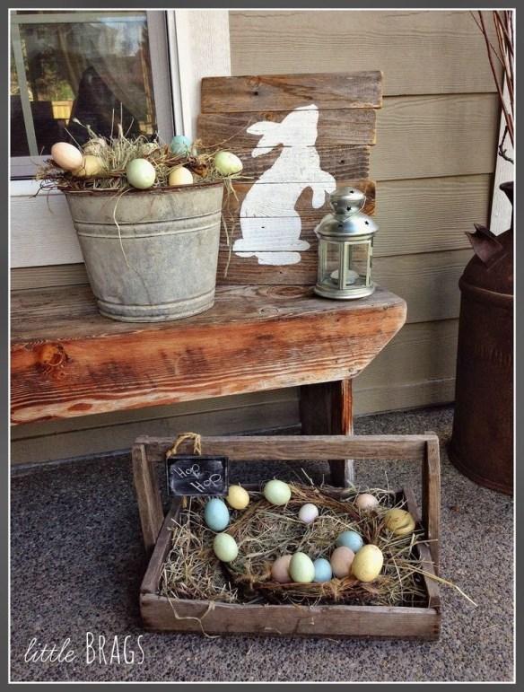 påske dekor utendørs egg