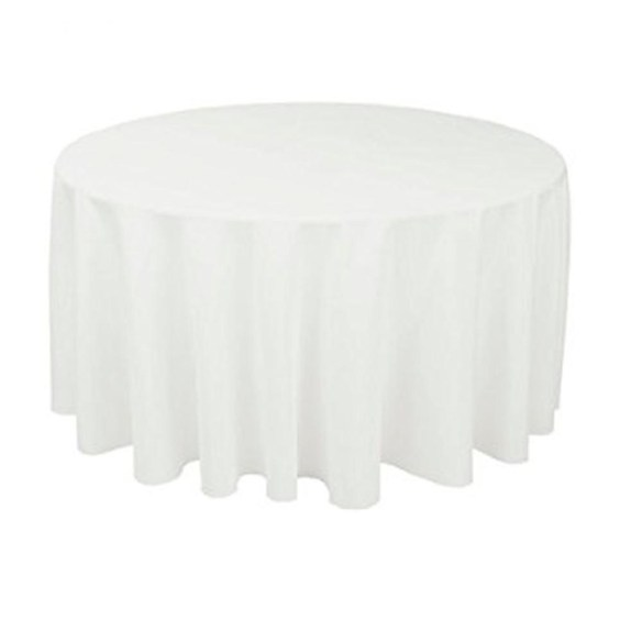 Bordduk rundt bord hvit 1