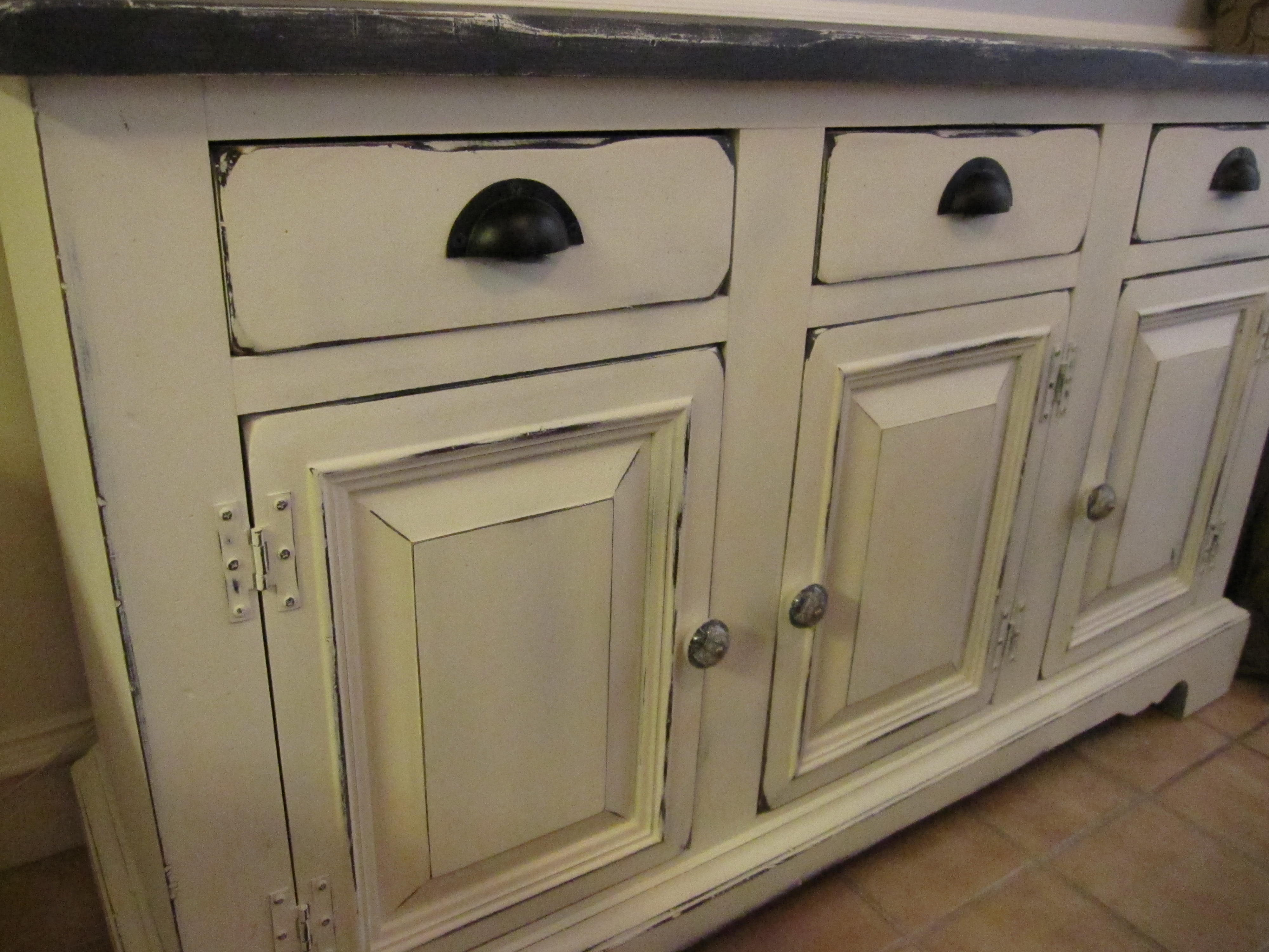 Chalk Paint Kitchen Cabinets Ugly Buffet Hutch To A Kitchen Storage Swan Houston