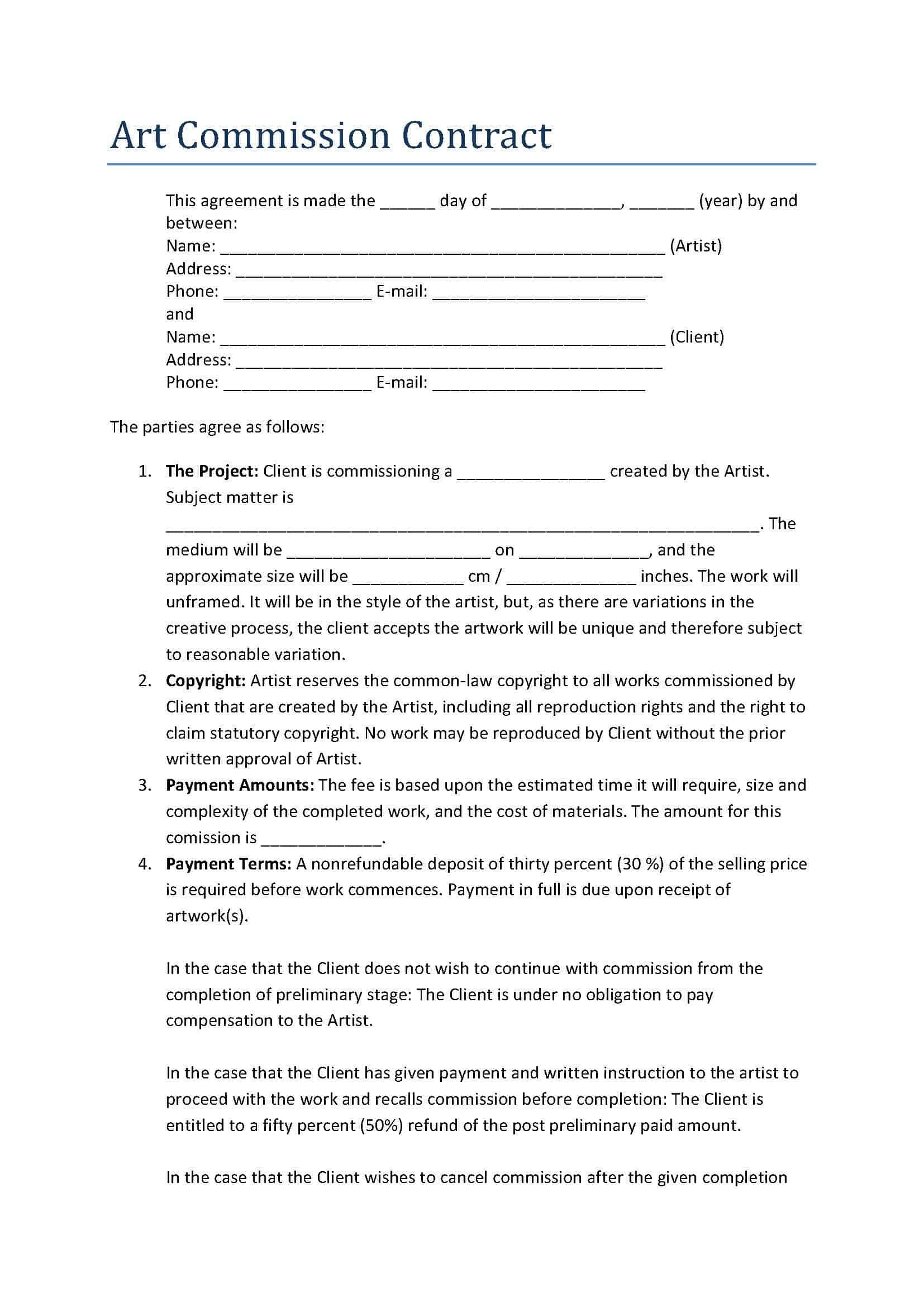 Free Sample Contract Of Employment For Apprentice – Time and Materials Contract Sample