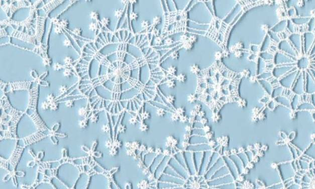 How To Make Free-Standing Machine-Embroidered Snow Flakes