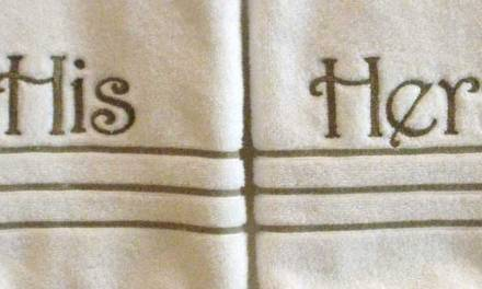 How to Get Perfect Monograms on Terry Cloth Towels