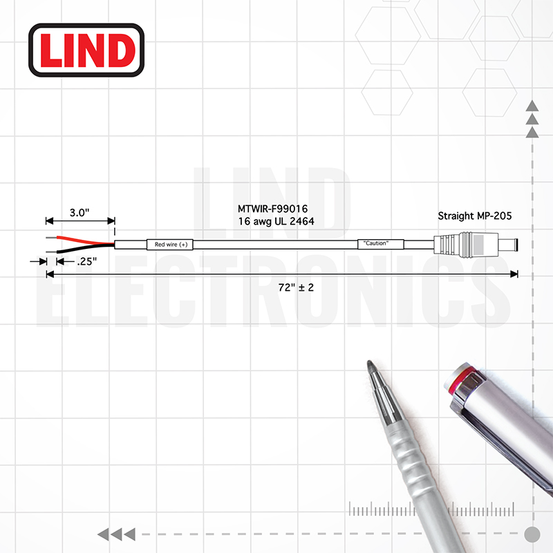 BareWire - CBLIP-F00058 - Lind Electronics