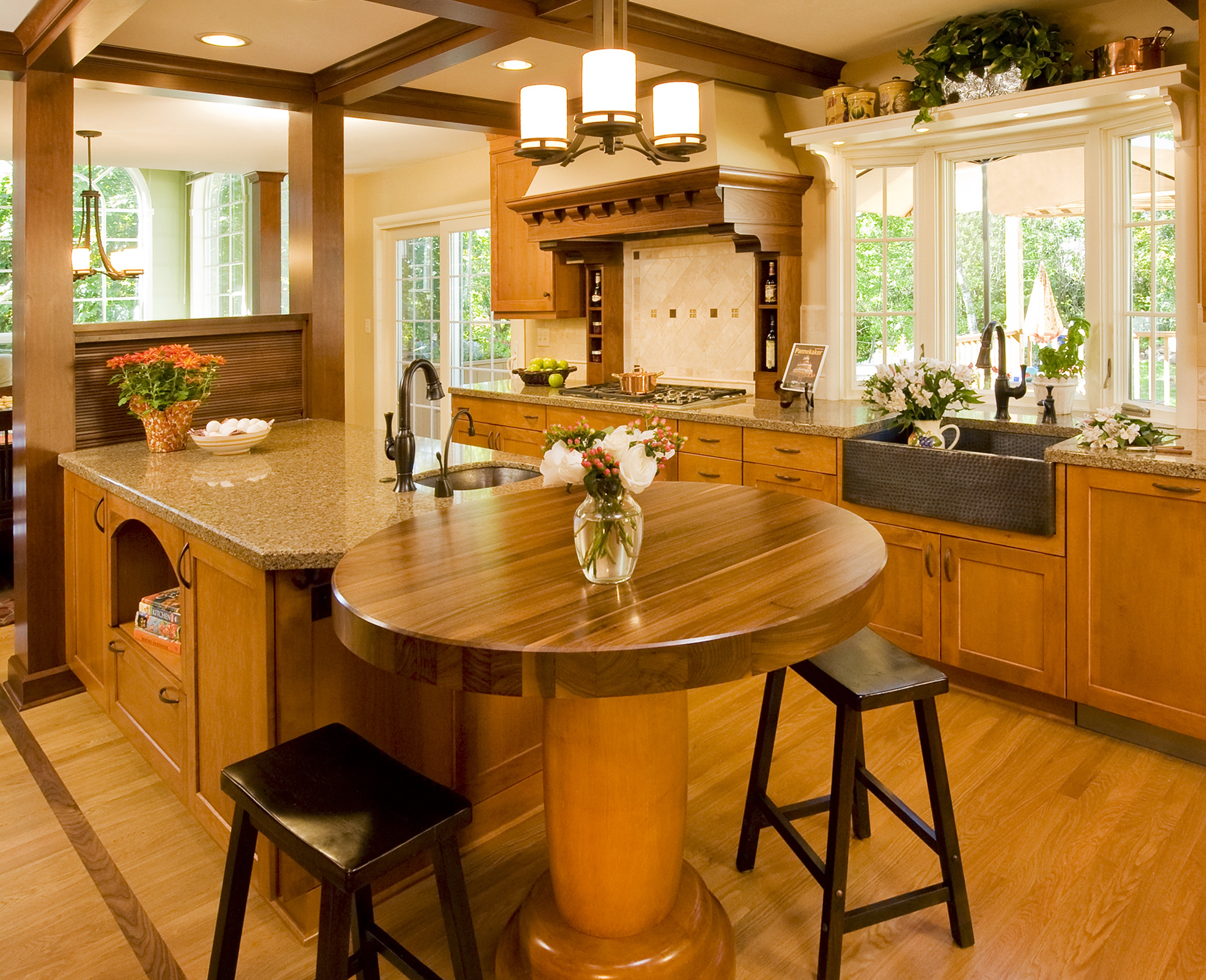 Kitchen Design With Round Island Kitchen Island With Multiple Functions