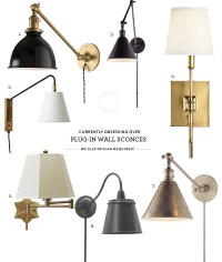 Obsessed With / Plug-in Wall Sconces  Lindsay Stephenson