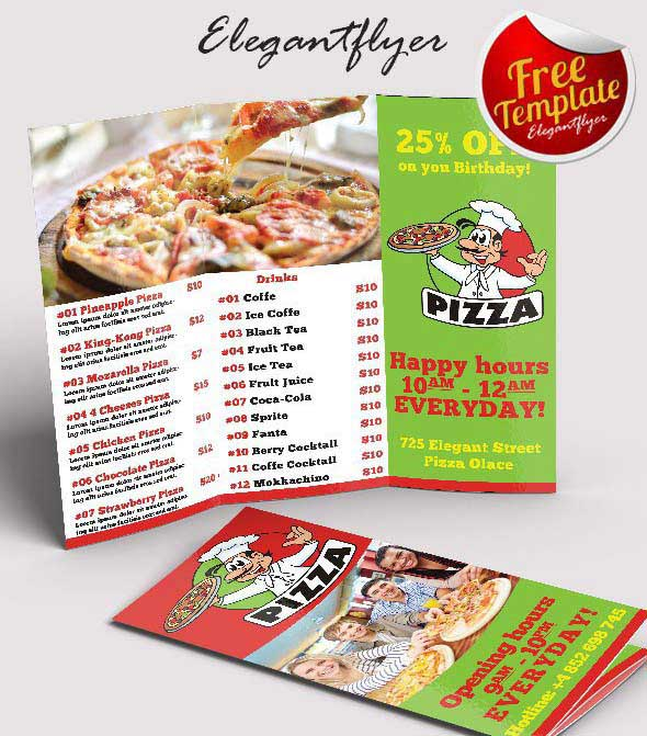 40 Print-Ready Brochure Templates Free and Premium - food brochure