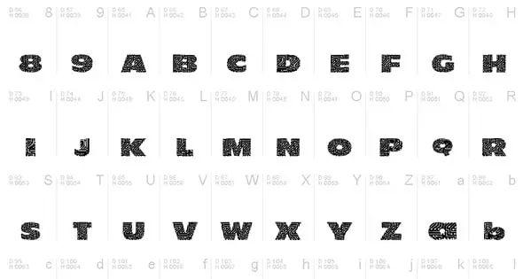 101 circuit board font