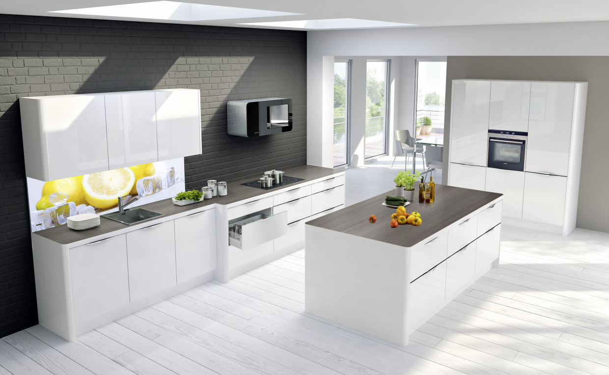 Nobilia Küche Hochglanz Grau Dynamically Modern - Linear Kitchen Designs