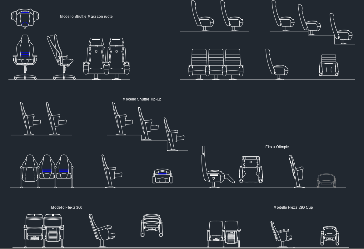 Eames Chair Autocad Block Auditorium Armchairs Free Cad Block Symbols And Cad Drawing