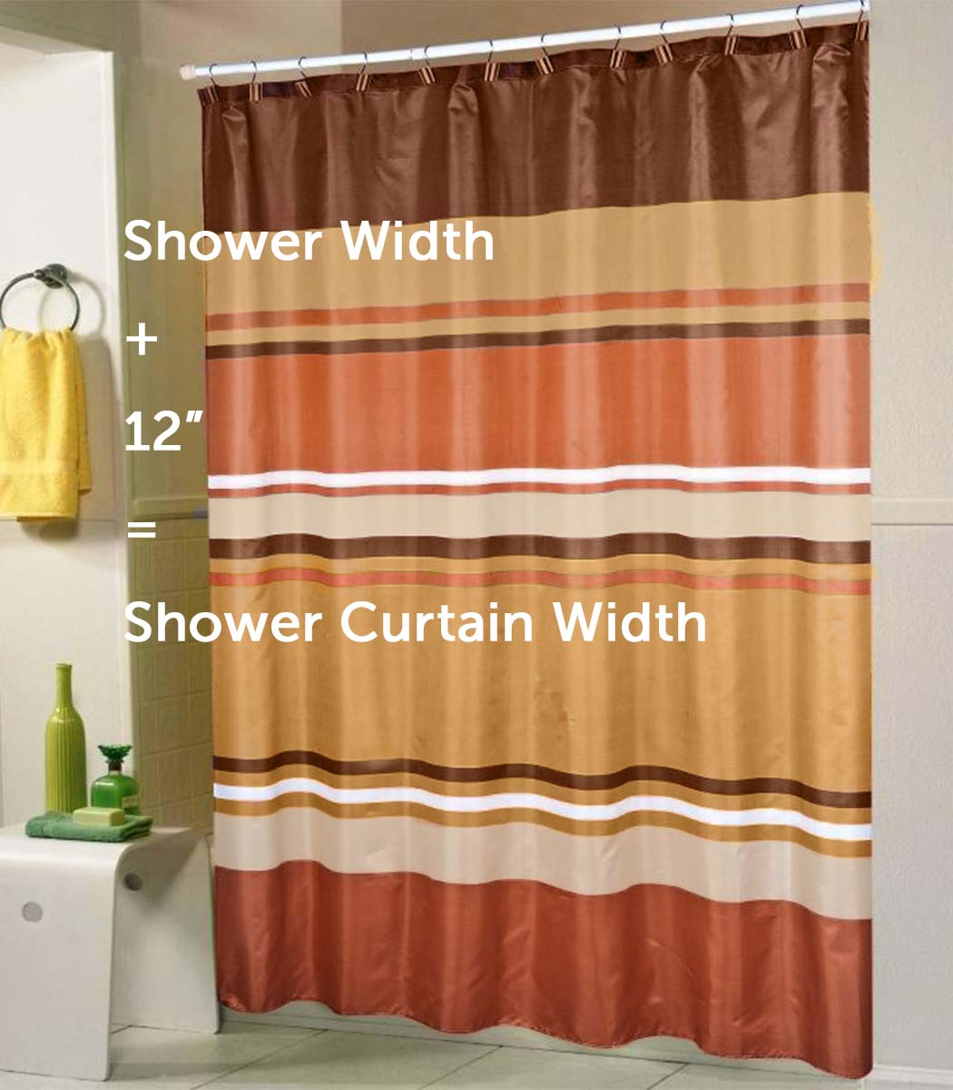 82 Shower Curtain A Standard Shower Curtain Size Guide Linen Store