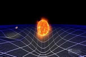 Resultado de imagen de Las grandes masas distorsionan el espacio