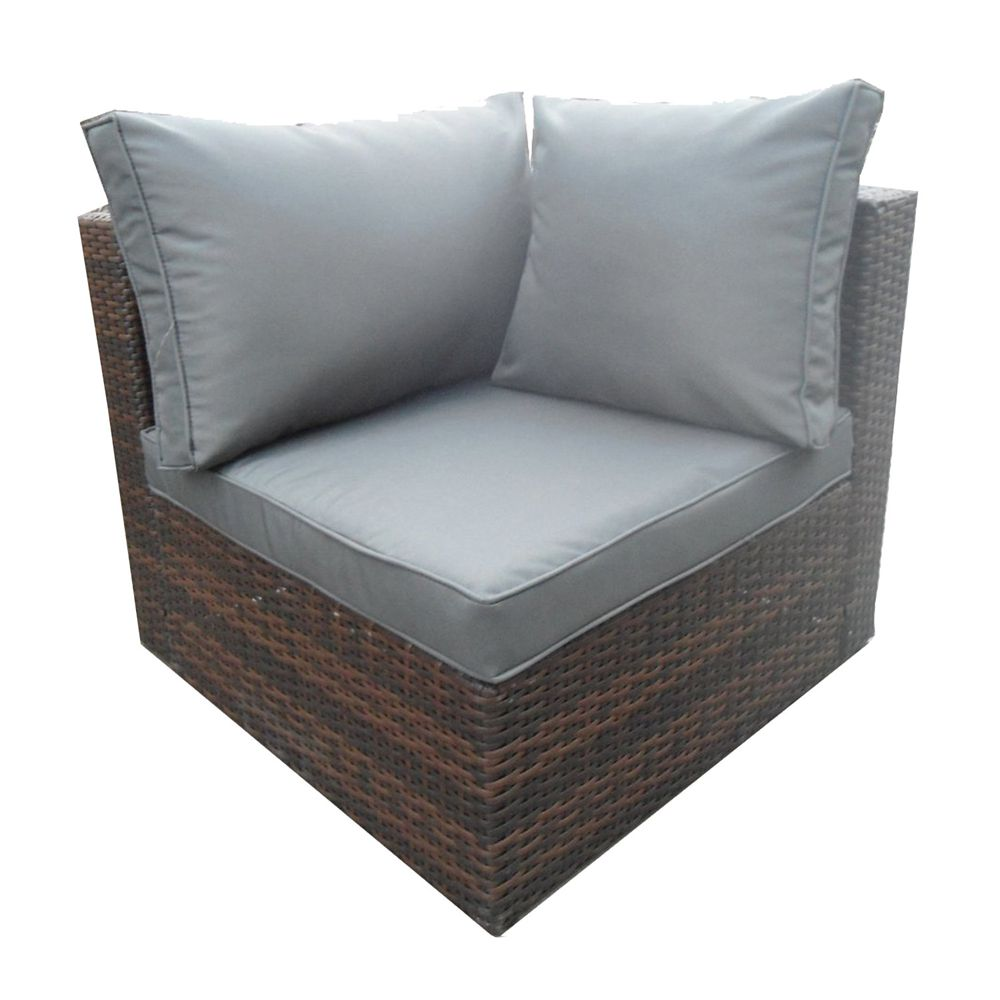 Rattan Sofa Luanda Rattan Wicker Garden Corner Sofa White Outdoor Lounge Furniture Couch