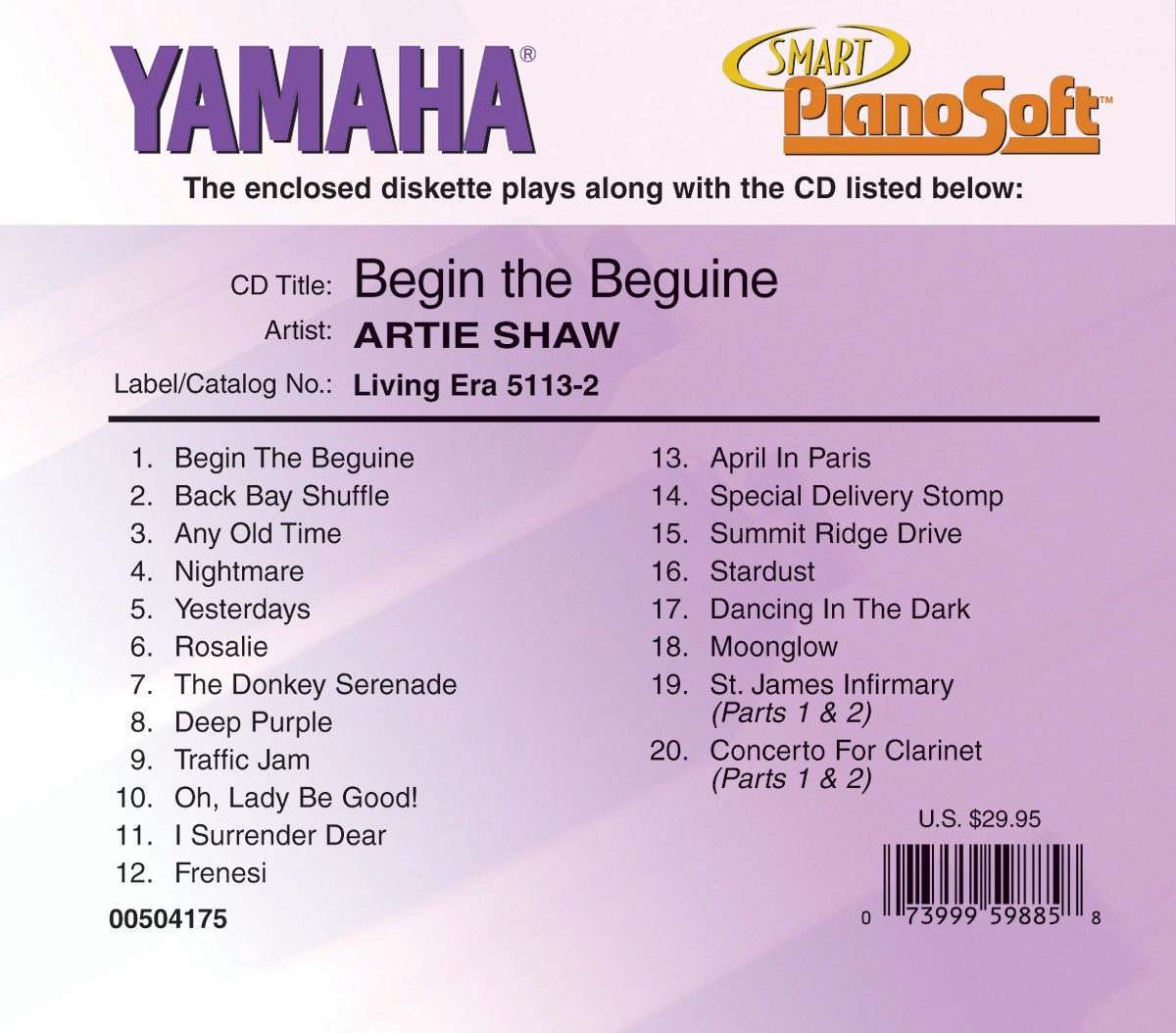 Artie Shaw Yesterdays Artie Shaw Begin The Beguine
